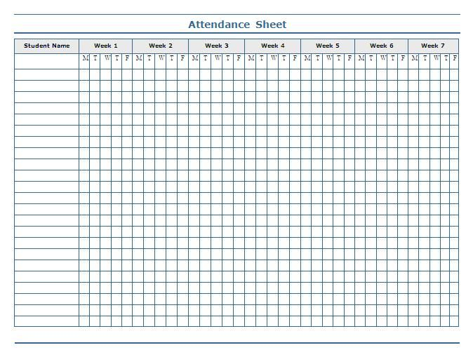 classroom charts printable Guidelines for Attendance Sheet - attendance form templates