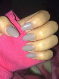 grey oval shaped acrylic nails | N A I L S | Pinterest ...