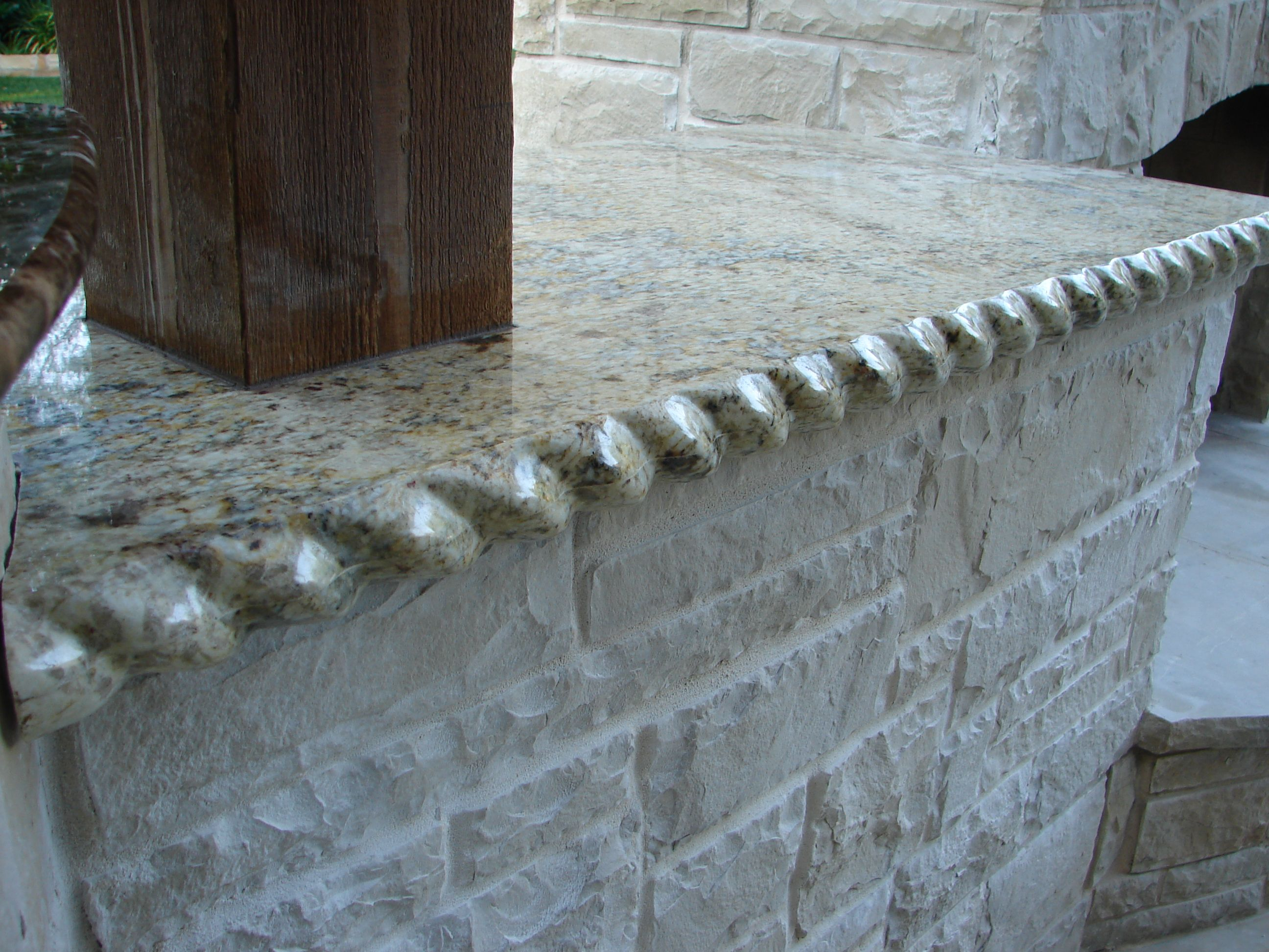 Granite Edges Rope Edge Or Rolled Granite Edge 6cm Laminated The