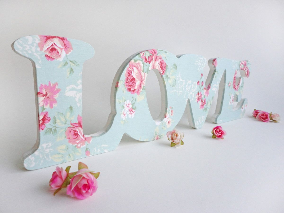 Diy Letras Decorativas Letras Decorativas G Love Quotromântico Quot Shabby