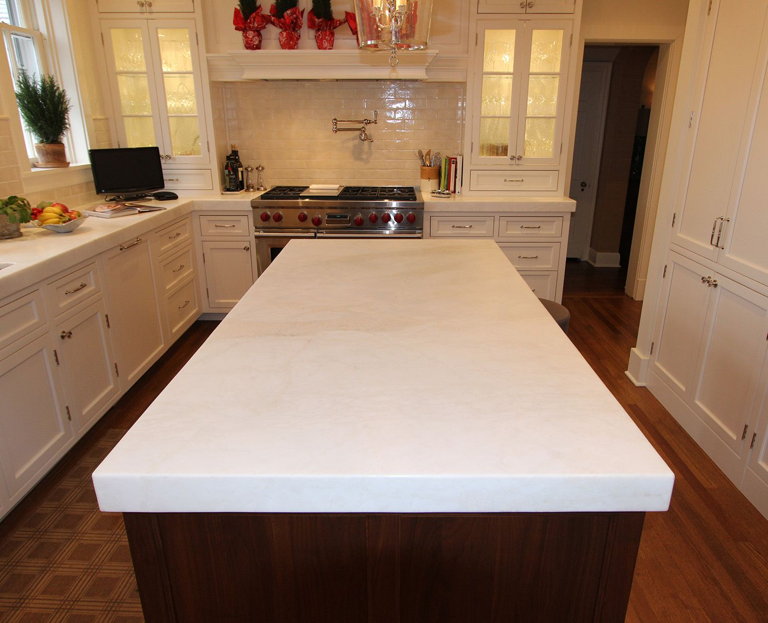 Kitchen Island With Different Countertop Kitchen Island Countertop With Light Colored Granite
