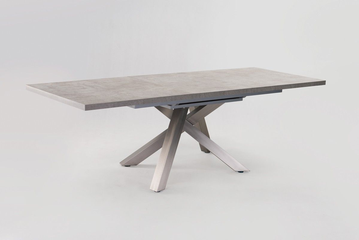 Modern Extending Dining Table Modrest Orson Contemporary Concrete Extendable Dining