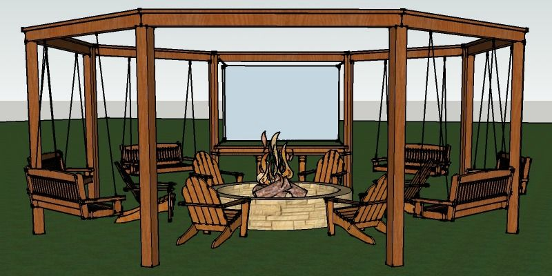 Tutorial Build An Amazing Diy Pergola And Fire Pit With