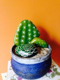 Painted Cactus Rock Garden. |  | Pinterest | Cacti, Rock ...