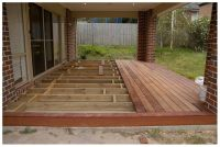 Wood Deck Over Concrete Patio - bordered edge rather than ...
