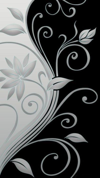 Beautiful vector flowers iPhone 5s Wallpaper Download   iPhone Wallpapers, iPad wallpapers One ...