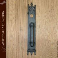 Custom Door Handles - Gothic Wrought Iron Door Pull -HH423 ...