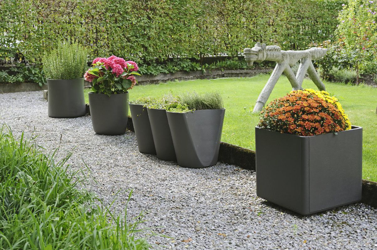 Contemporary Pots And Planters Outdoor Planters And Urns Design For The Garden A