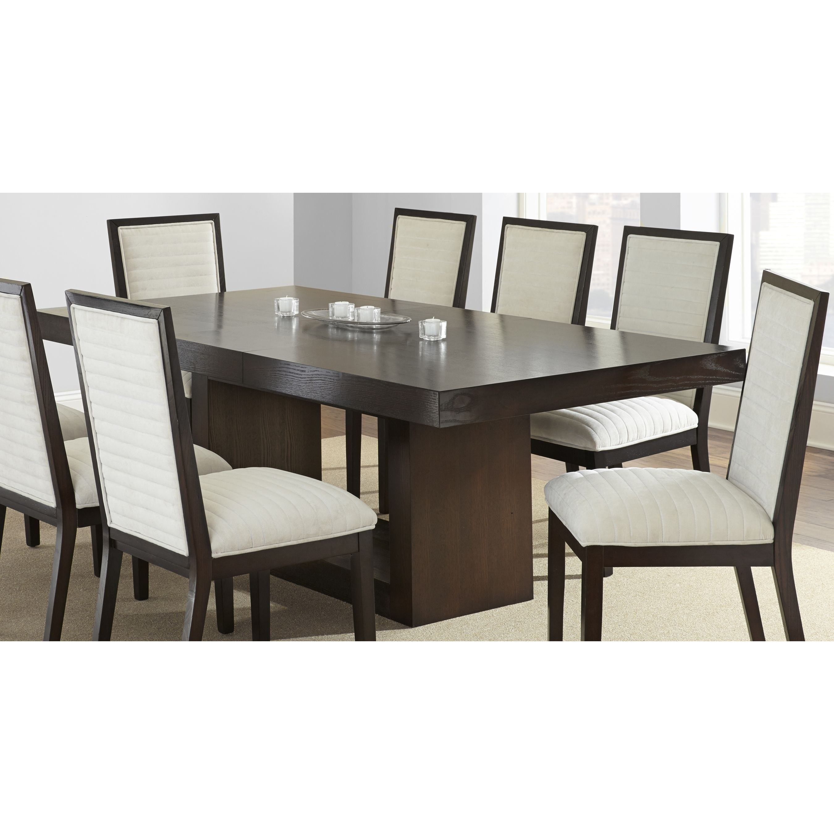Modern Dining Table With Leaf Greyson Living Amia Espresso Dining Table With Removable