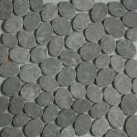 Dark Grey Sliced Stone Pebble Mosaic Tile wall floor ...