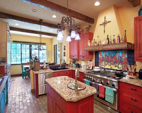 mexican style home designs Mexican Style Kitchen Design - mexican kitchen design