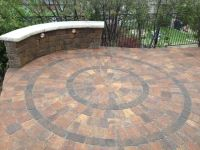 Interlocking paver circle kit design. Installed by ...