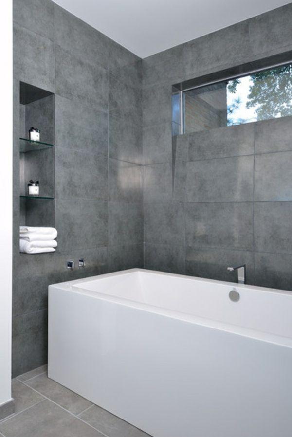 Grau im Badezimmer wanne fliesen design Unser Traum vom Haus - badezimmer in grau