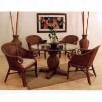 enchanting wicker dining chairs indoor with round glass ...