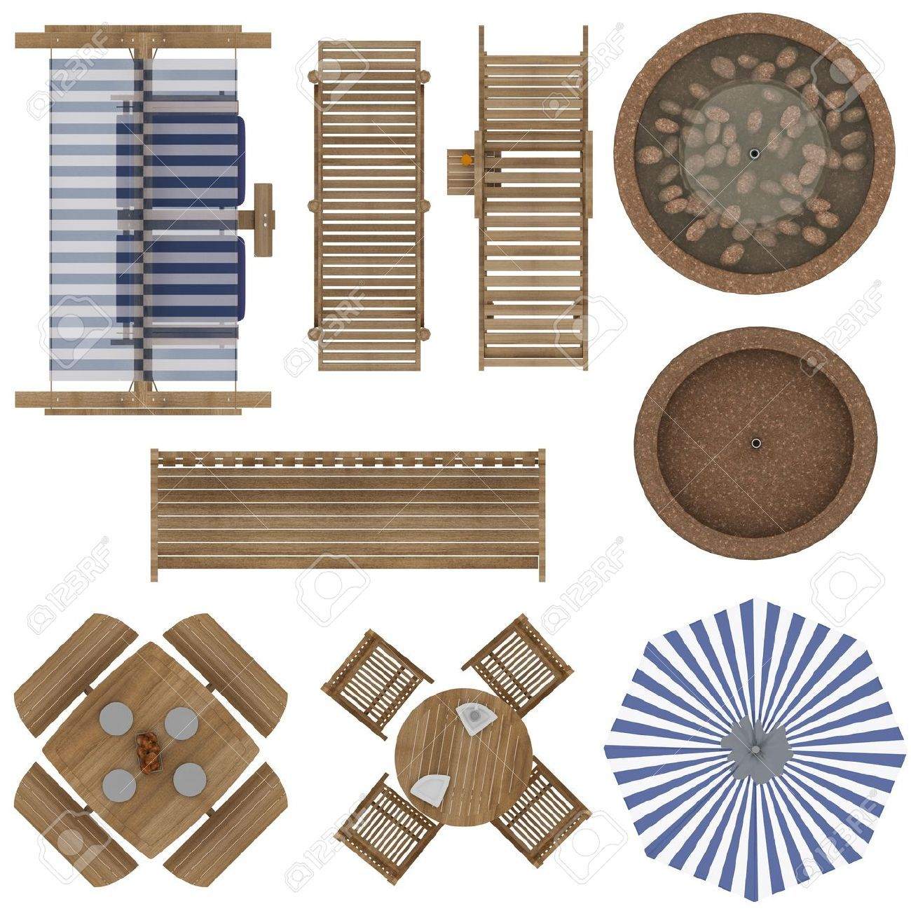Landscaping furniture plan view google search