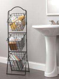 Wire Storage Basket Bins Shelving 3 Tier Rack Organizer ...