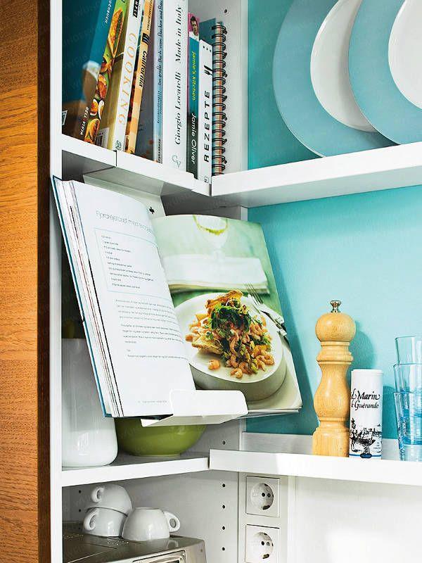 Mehr Komfort in einer kleinen Küche Cookbook holder, Shelves and - moderne modulare kuche komfort