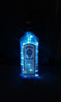 Upcycled Bombay Sapphire London Dry Gin Bottle Lamp ...