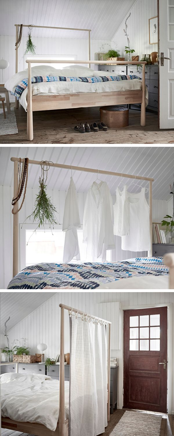 Bettgestell Modern GjÖra Bed Frame, Birch, Lönset | Divider, Birch And Clothes