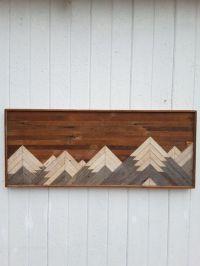 Past Reclaimed Wood Wall Art Twin Headboard by ...