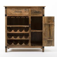 Rustic Industrial Wine Cabinet | Our home | Pinterest ...