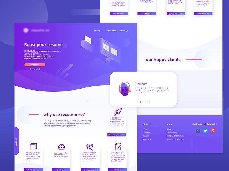 Resume Solution Websites \ Landing Pages Design Pinterest - long resume solutions