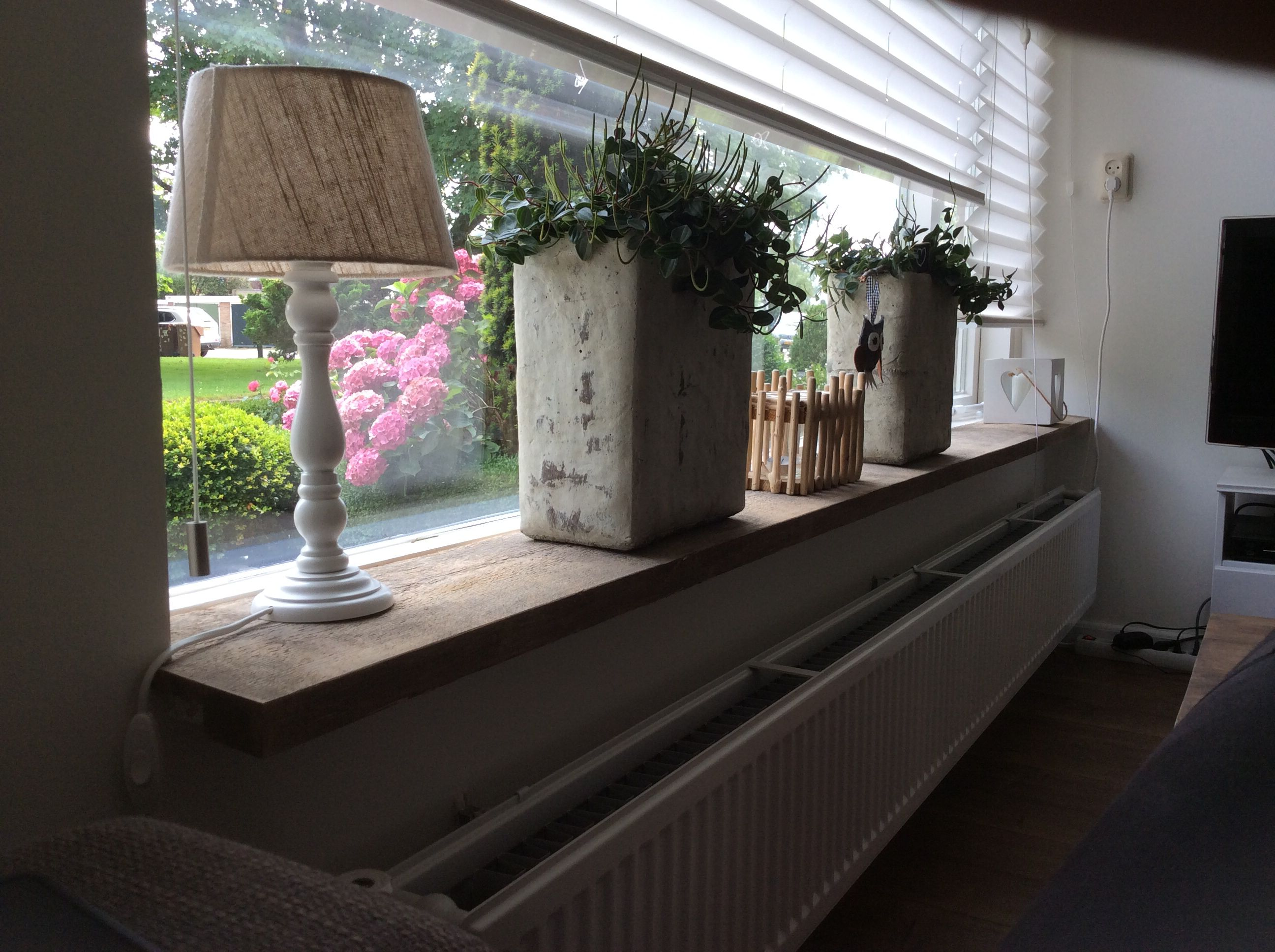 Vensterbank Decoratie Groot Raam Steigerhout Vensterbank Vensterbank Pinterest