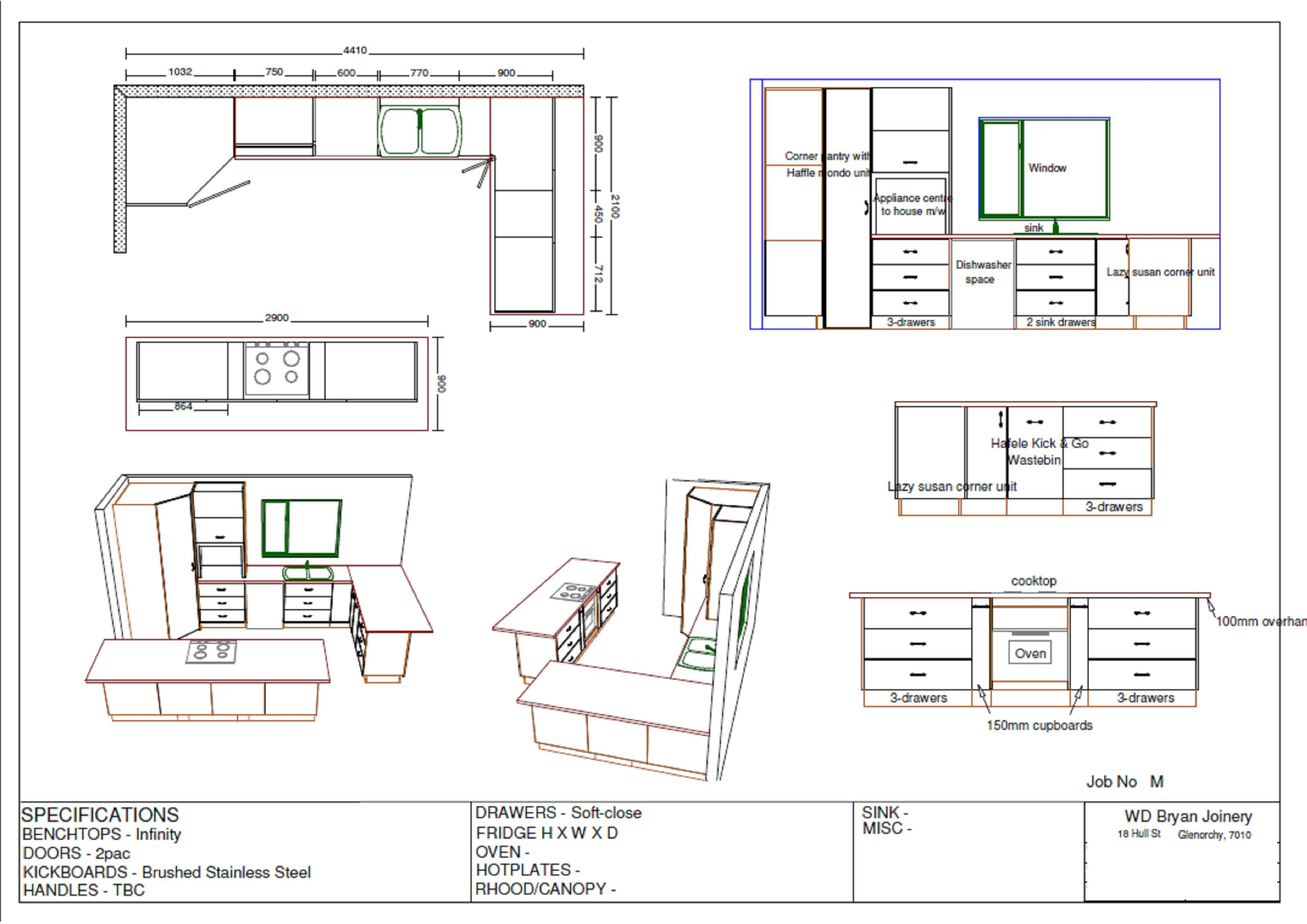 Drawing Kitchen Plans Joinery Somo Studio