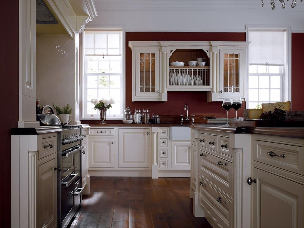 White Kitchen Wall Color White Cabinets And Moldings Contrast Perfectly With