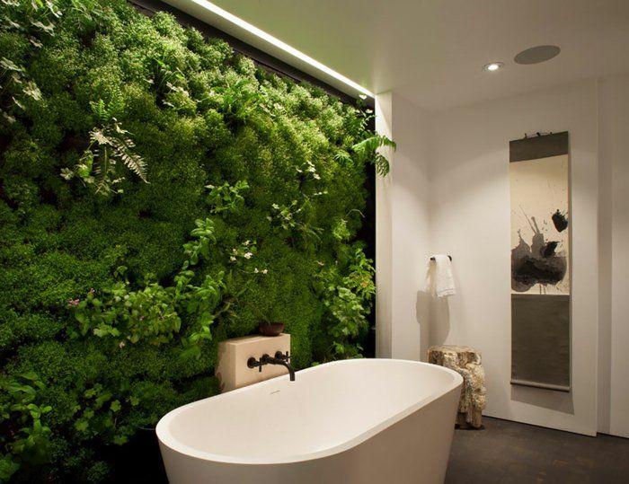 DIY Moosbild für ein frisches Badezimmer Wandgestaltung Ideen - badezimmer do it yourself