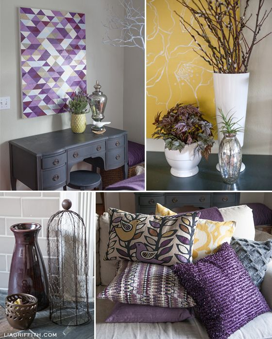 My Plum Infused Living Room Room, Living rooms and Purple - purple and grey living room