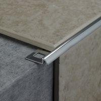8mm Silver Round Tile Edging Trim 2pk | Bathroom ...