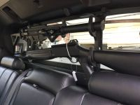 2007 Chevy Avalanche gun rack in rear window. GSG522 and ...