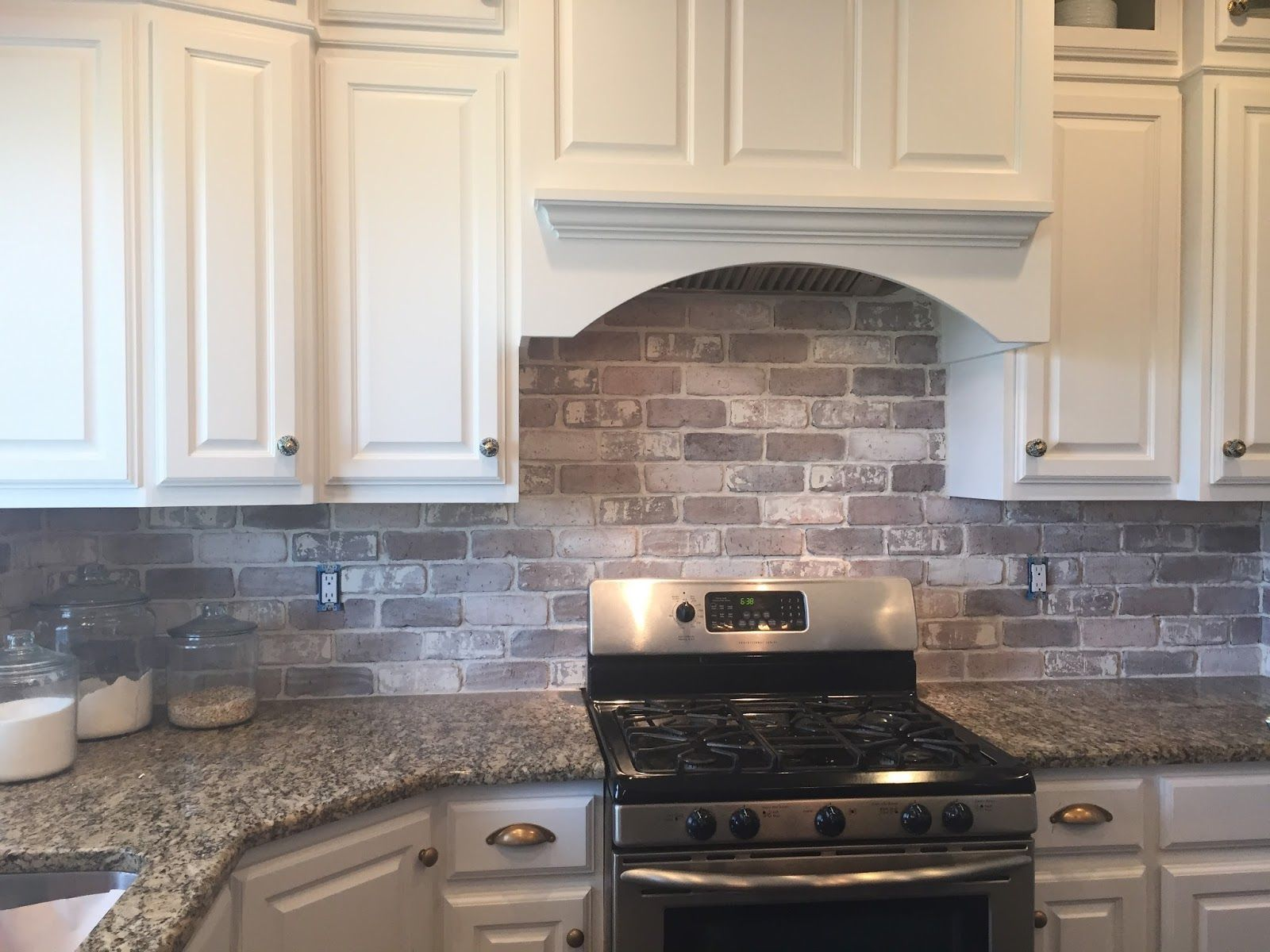 backsplash kitchen Love brick backsplash in the kitchen easy diy install with our brick panels cut them