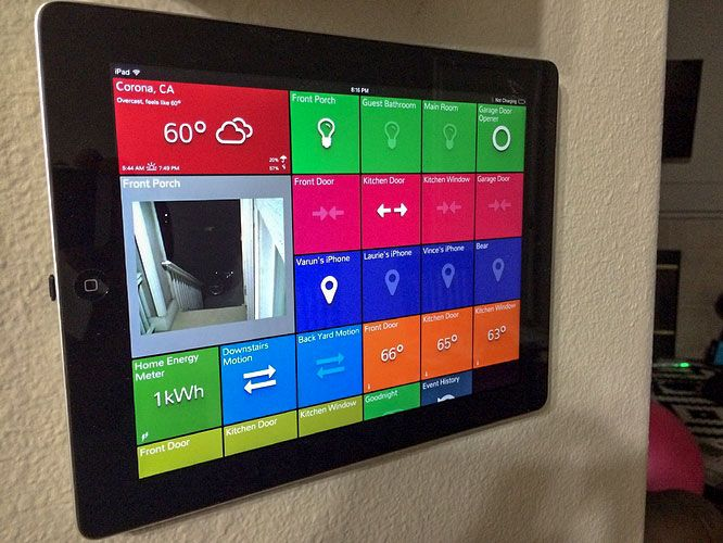 SmartTiles Wall Mounted Tablet Example from Varun_Patel Home - home automation ideas