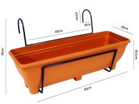 Hanging Balcony Planter - Trough holder for use on ...