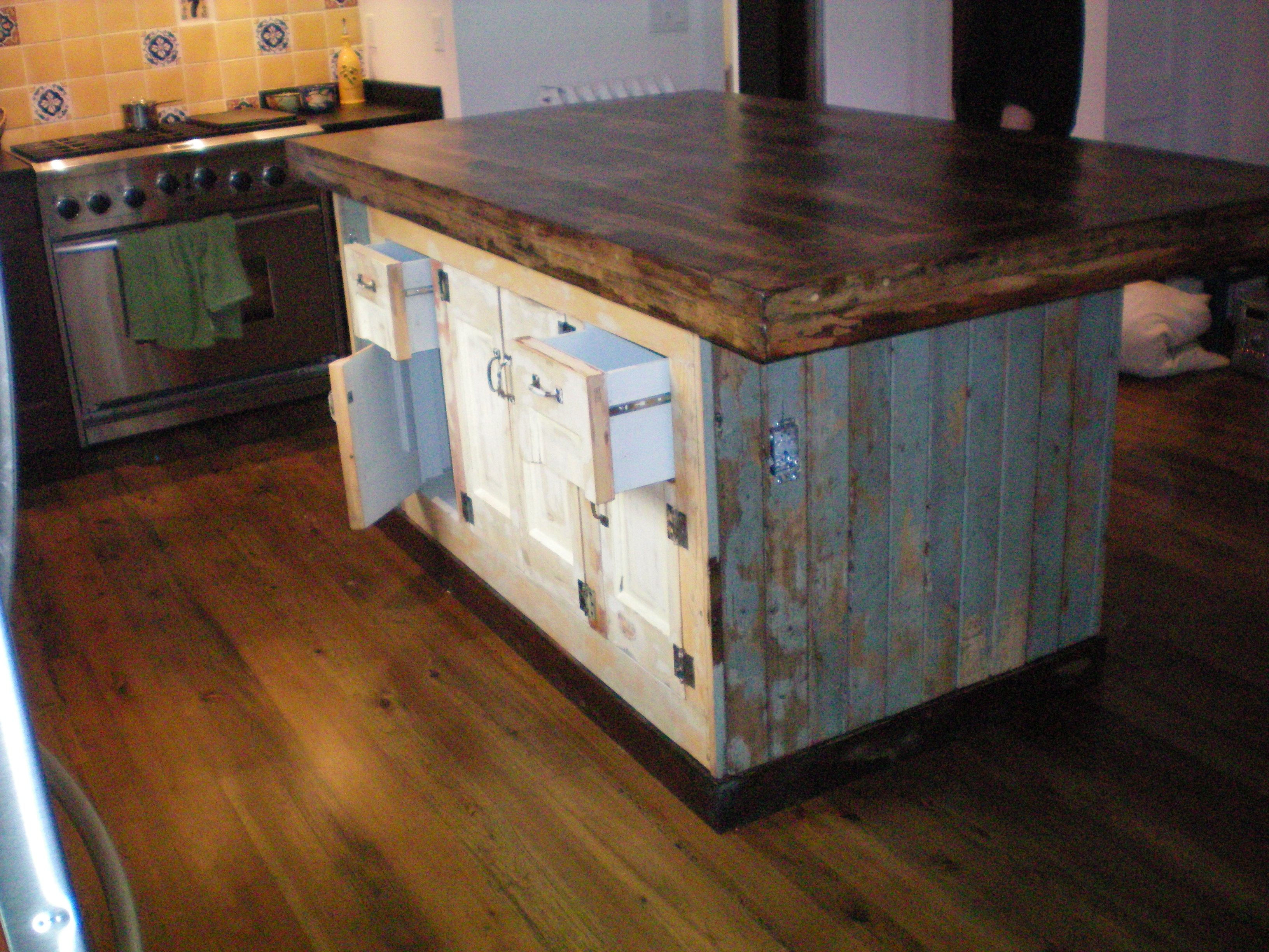 Reclaimed Wood Kitchen Cabinets Forever Interiors Large Kitchen Island With Cabinets And