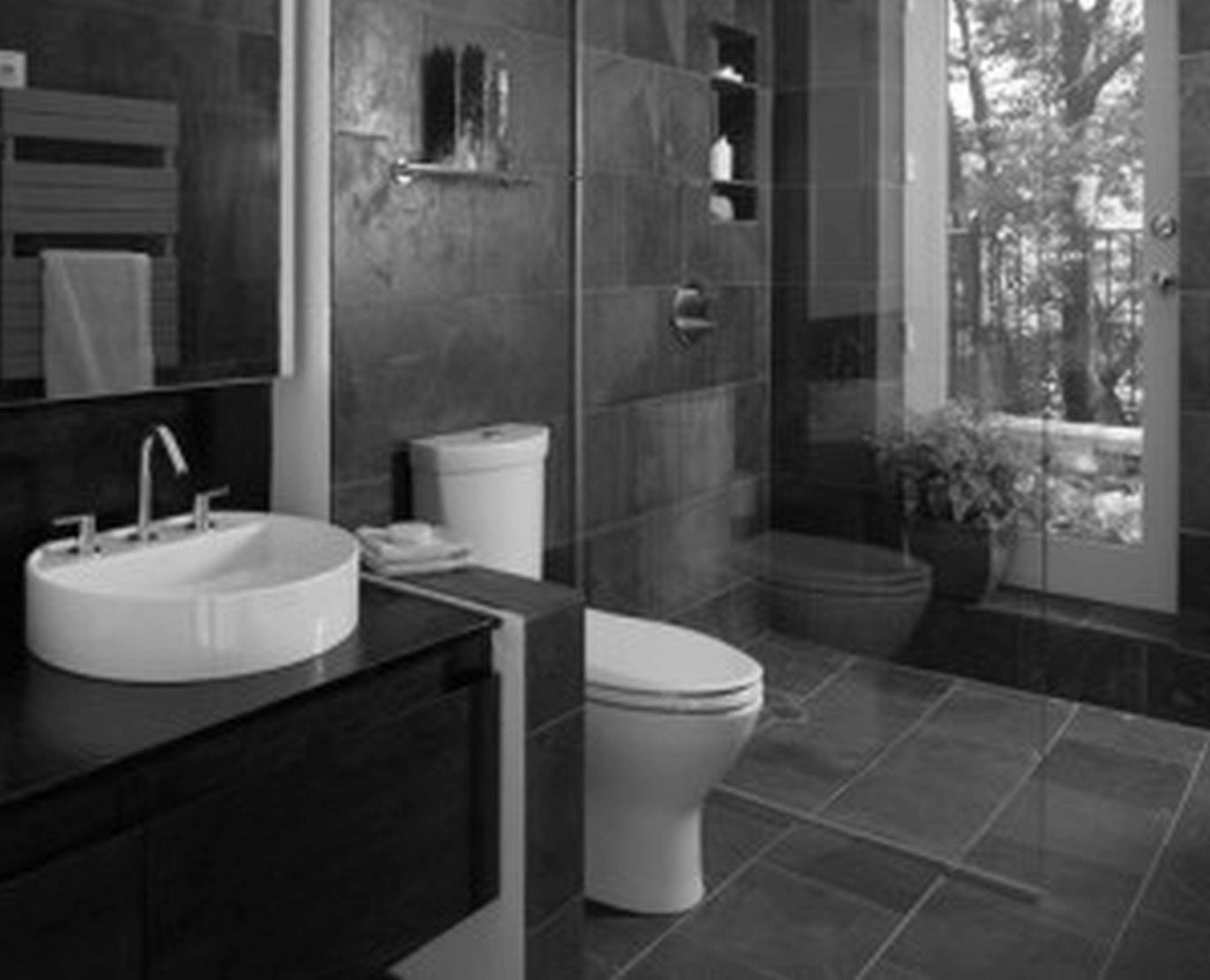 Dark gray tile bathroom google search master bathroom