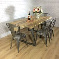 Industrial Rustic Calia Style Dining Table Vintage ...