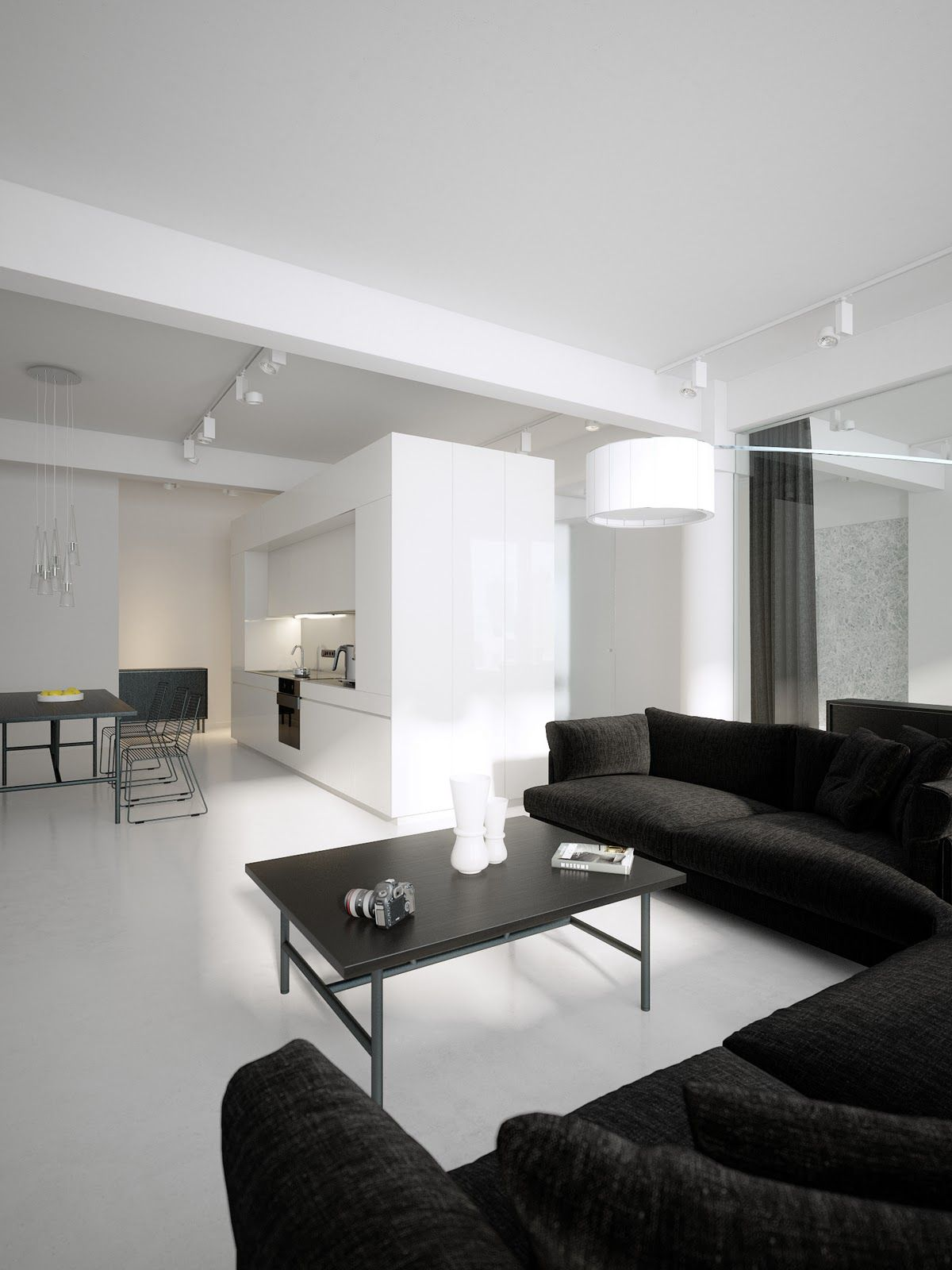 Find this pin and more on loft ideas luxury minimalist loft designs in black and white