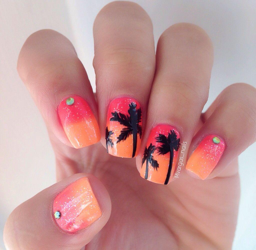 Palm Trees Nails My Nail Art Ig Mvargas Nails