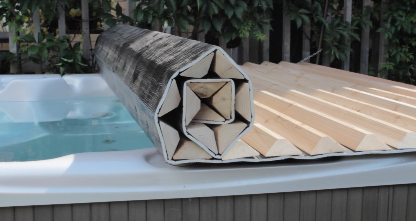 Jacuzzi Pool Covers We Can Custom Make A Roll Up Hot Tub Cover For Just About