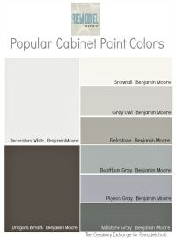 Trends in Cabinet Paint Colors | Paint colors, Grey and ...