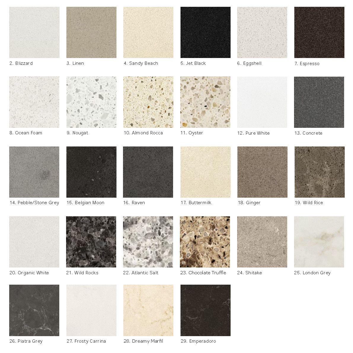 quartz kitchen countertops IKEA Personlig quartz countertop colours