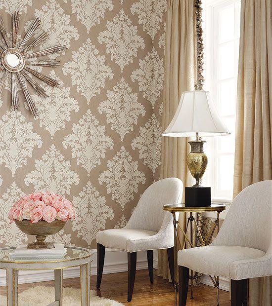 wallpaper for living rooms ideas 10 Divine Damask Wallpapers for - wallpaper ideas for living room