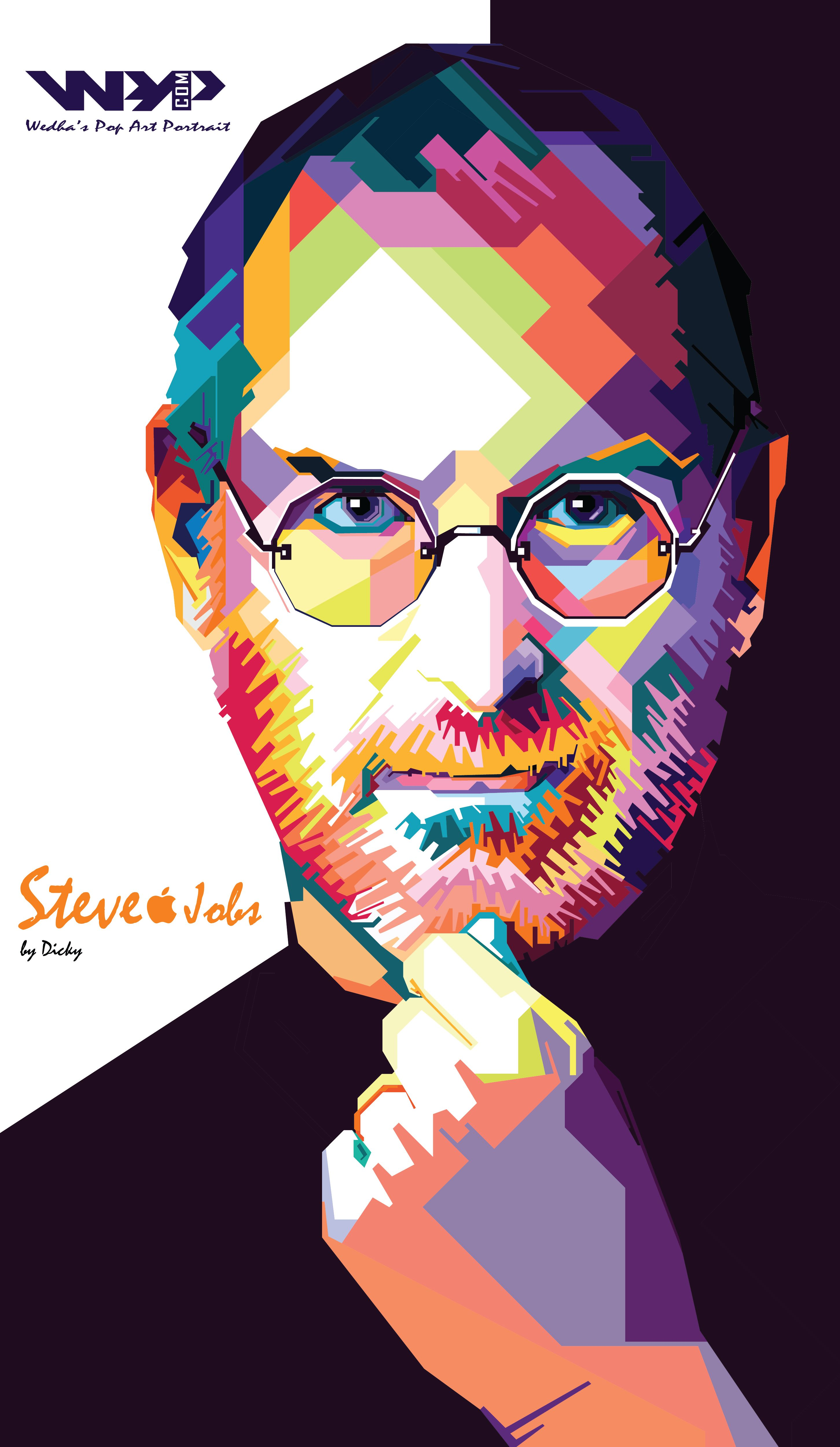 Keith Haring Iphone Wallpaper Steve Jobs In Wpap By Parcok Wpap Project Artwork