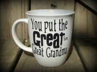 Personalized Great Grandma Cup Great Grandpa Mug Great ...