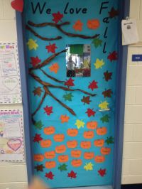 Fall classroom door decoration | My DIY | Pinterest | Fall ...