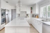 The Kitchen: Roseland Project -- White and grey kitchen ...