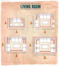 Choosing the right size area rug for your Living Room ...